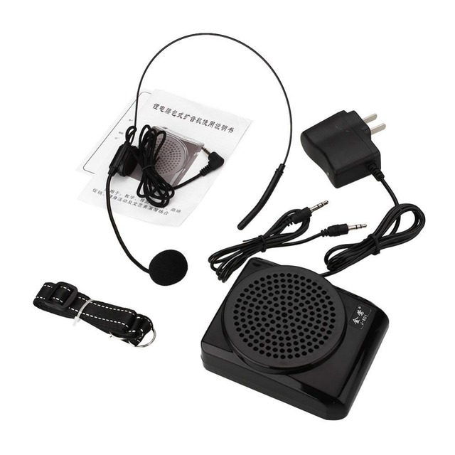 portable Voice Audio Booster Amplifier Changer portatile portatil Mic Headset Microphone Waistband Megaphone Loudspeaker