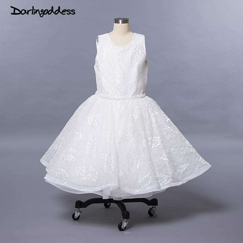 White   Flower     Girl     Dresses   For Weddings First Communion   Dresses   2018 Pageant   Dresses   For   Girls   Little Kids Ball Gown Evening Gown