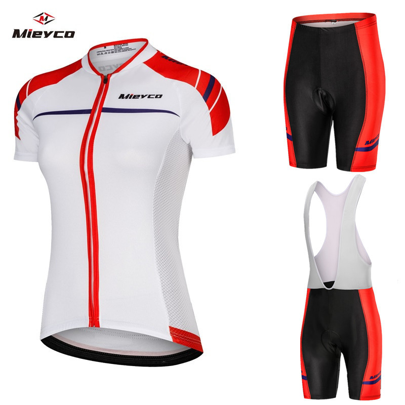 2019 Proteam Cycling Clothing Road Bike Wear Racing Clothes Quick Dry Women's Cycling Jersey Set Mtb Bike Sporty Set Summer