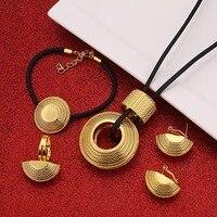 Комплект ювелирных изделий, серьги из черной веревки с подвеской, браслет-кольцо, подарок на свадьбу