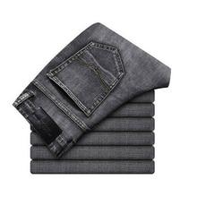 Thời Trang mới Nam Quần Jeans Co Giãn Kinh Doanh Plus Kích Thước Quần Khoác nam Dạo Phố Skinny Quần Jeans Nam Xanh Đen Ropa De Hombre 2019