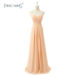 Free Shipping Bridesmaid Dresses Long Wedding Party Dress A-Line Sweetheart Chiffon Vestido de Festa Longo Casamento BD52