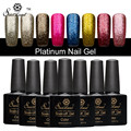 Saviland 3D Shimmer Glitter Platinum Gel Polish LED UV Lamp Charming Color UV Nail Polish 10ML Semi Permanent Gel Lacquer