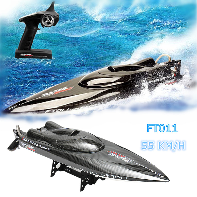 Feilun FT011 65CM 2.4G 50 km/h Water Cooled Brushless Motor RC Racing Boat цена