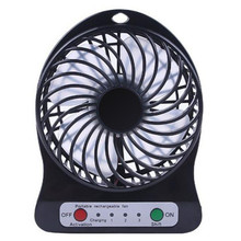 2017 Portable Rechargeable LED Fan air Cooler Mini Operated Desk USB 18650 font b Battery b