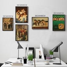 Friends TV Poster Fashion Bedroom Decoration Wall Paper vintage paintings retro art prints