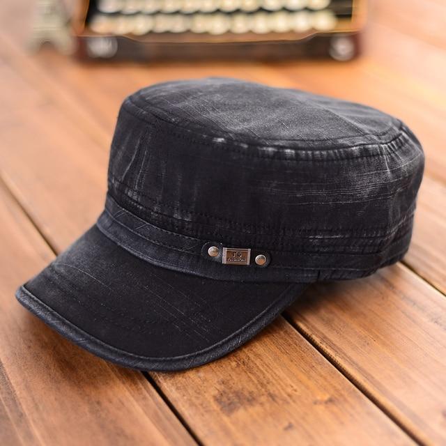 Retro cappello militare moda uomo donna army sun cap regolabile cappelli da baseball  visiera berretti militari 7b50eed76261