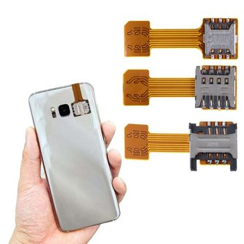 Hybrid Double Dual SIM Card Micro SD Adapter for Android Phone Extender Nano Mic hybrid double dual sim card micro sd adapter for android extender 2 nano micro sim adapter