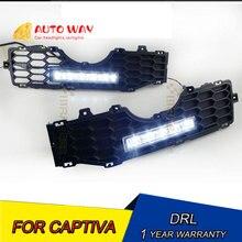 12V 6000k светодиодный DRL Дневной Бег светильник для Chevrolet Captiva DRL 2008-2012 противотуманная фара рамка Captiva туман светильник