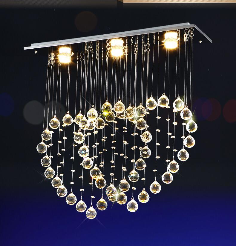 Ceiling Lights & Fans Chandeliers Modern Sweet Heart K9 Led Crystal Chandeliers Led Lamps Romantic Warmth Living Room Chandelier Led Gu10 Lustre Light Chandelier