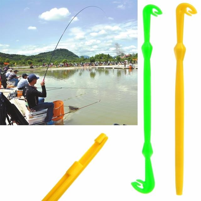 2 шт. простой инструмент Tyer & Disgorger крюк петля Быстрый завязывание узел инструмент для Летающий рыболовный крючок Желтый Пластмассовый Уровень линия набор инструментов