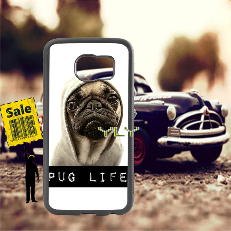 pug dog animale hight quality silicone soft cases for samsung s4 s5 s6 s6edge s7 s7edge s8 s8plus s9 s9plus note8 note5 cover