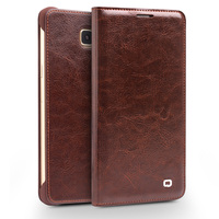 For new version Samsung Galaxy A7 case Qialino Real Leather Flip Wallet Ultra Thin Case Cover for Samsung A7100 case