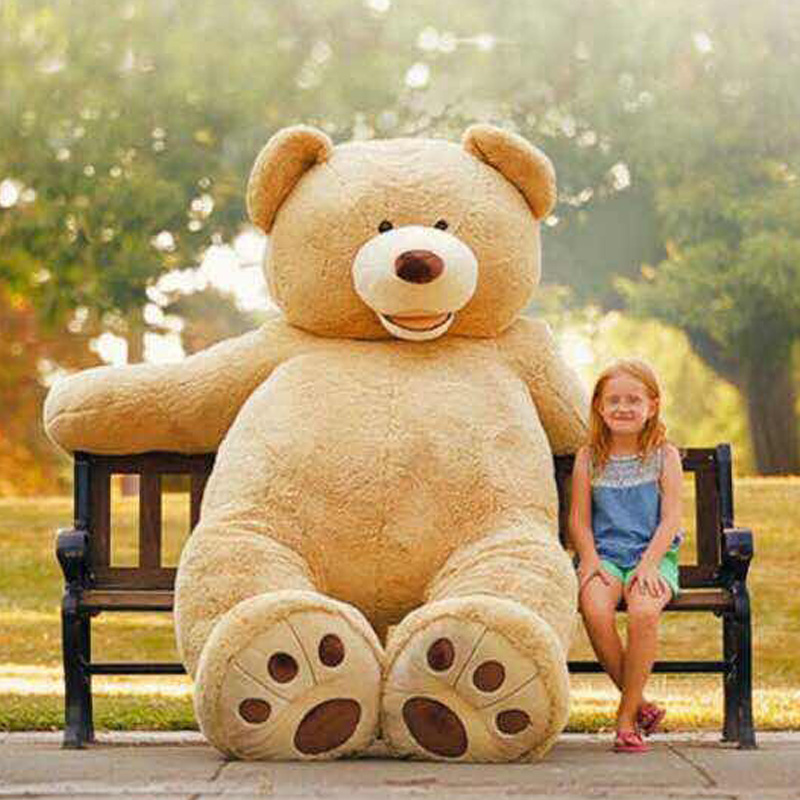 [Funny] 340cm America bear Stuffed animal teddy bear cover plush soft toy doll pillow cover(without stuff) kids baby adult gift stuffed animal 180cm light brown teddy bear plush toy soft doll throw pillow gift w2065