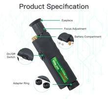 Handheld Inspection Probe Komshine KFM-200 Fiber Optic MicroScope with 1.25/2.5mm Adapter