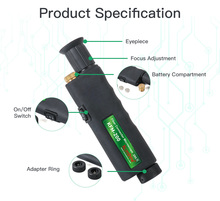 Handheld Inspektion Sonde Komshine KFM 200 Fiber Optic Mikroskop mit 1,25/2,5mm Adapter