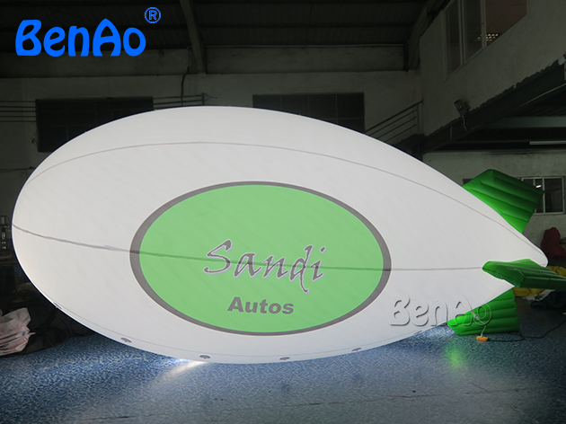 AO125 BENAO Free shipping  6m Inflatable PVC Blimp / Zeppelin / Helium Balloon / Air ship Advertising Promotion ao058b 2m white pvc helium balioon inflatable sphere sky balloon for sale attractive inflatable funny helium printing air ball