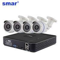 H 264 4CH CCTV System 1080P Output Network DVR 4PCS 720P AHD Camera IR CUT Filter