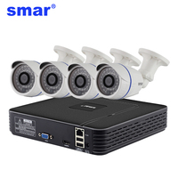 H 264 4CH CCTV System 1080P Output Network DVR 4PCS 720P AHD Camera IR CUT Filter