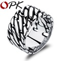 OPK 12MM Width Man Rings Personality Stainless Steel Big Surface Men's Jewelry Gift Punk Style Party Finger Bands GJ466