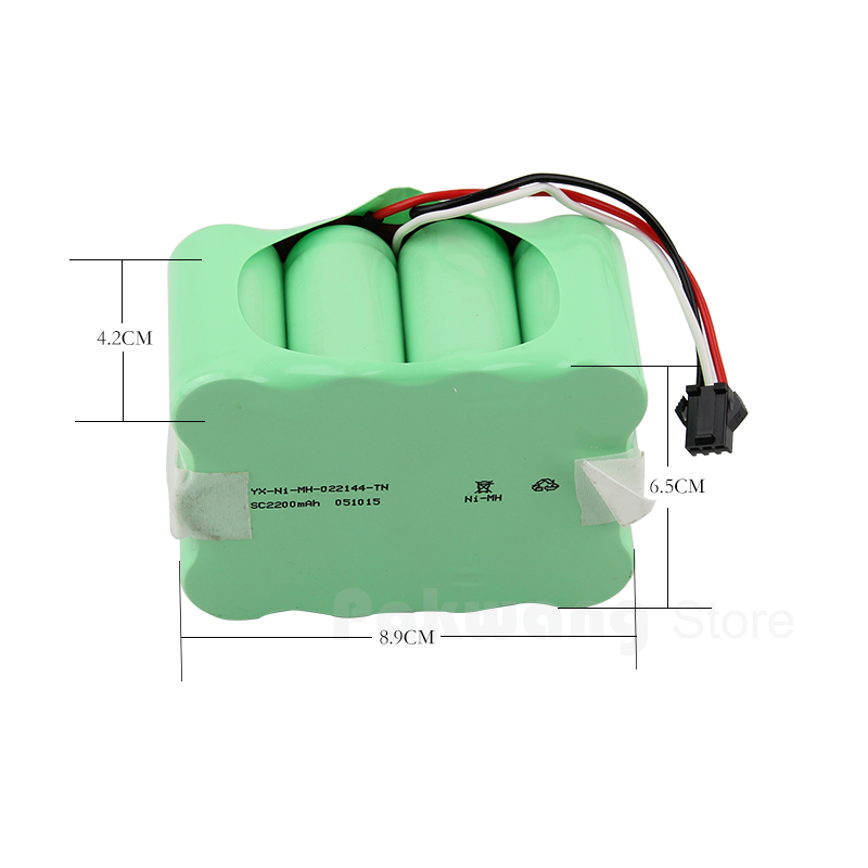 Powerful XR510 battery for intelligent robot vacuum cleaner 14.4v vacuum cleaner battery 2200mAh parts for vacuum cleaners
