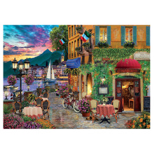 DIY Diamond Painting beach leisure town scenery embroidery small Mosaic Cross Stitch landscape