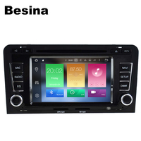 Besina 2 Din 7 Inch Car DVD Player For Audi A3 S3 Octa Cores 4G RAM