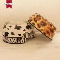 높은 품질의 분리 미끄럼 방지 스테인레스 스틸 멜라민 애완 동물 식품 개 그릇