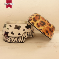 High Quality Detachable Antiskid Stainless Steel Melamine Pet Water Food Dog Bowl