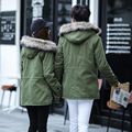 2016 new  men's thick warm winter down coat fur collar  Men and women coat  parka big yards long cotton coat jacket parka men