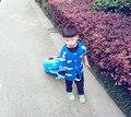 Moda de nova Europa bobochoses nuvens cardingans camisola da menina do menino das Crianças de manga comprida de malha roupas de bebê topos de algodão azul