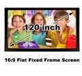 Низкая цена 120 дюймов плоским фиксированной проекционный экран кадра 16:9 высокое качество отображения изображений 3D 1080 P кинопроектор экраны