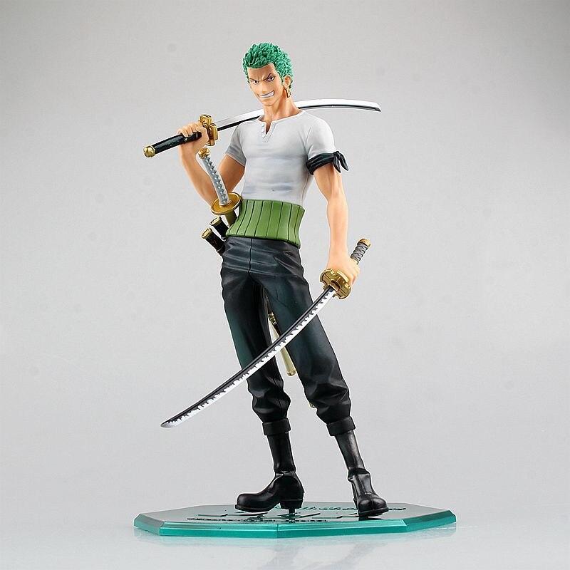 Anime One Piece Figura 23cm Roronoa Zoro Swords Zoro PVC Action Figure Model Toys Cool Dolls Gift for Kids Friends
