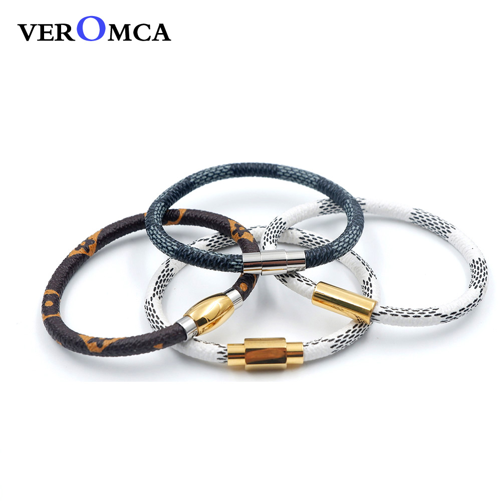 1Leather Bracelet Stainless Steel Bracelet (11)  VEROMCA Leather-based Bracelet Stainless Metal Bracelets Males Jewellery Excessive High quality Charms Bracelets jewellery Magnetic Bracelet HTB1qt29twmTBuNjy1Xbq6yMrVXac