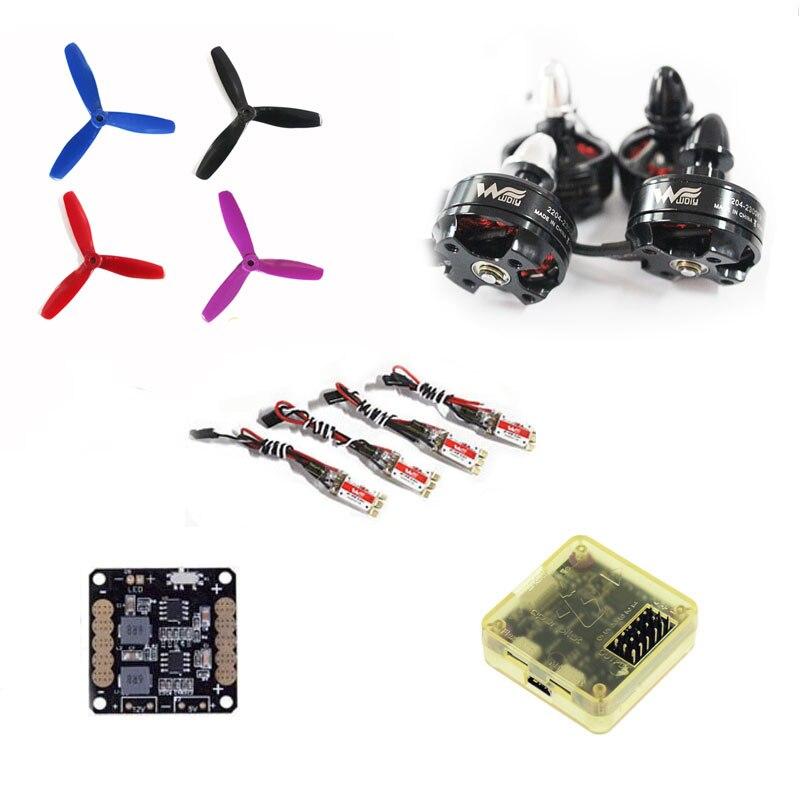 wdiy 2204 2300KV motor QAV-X qav210 180 4S power 12A  ESC CC3D 5045 3 blades Prop for DIY mini racing drone quadcopter QAV-R wdiy motor2204 2300kv qav x qav210  4s