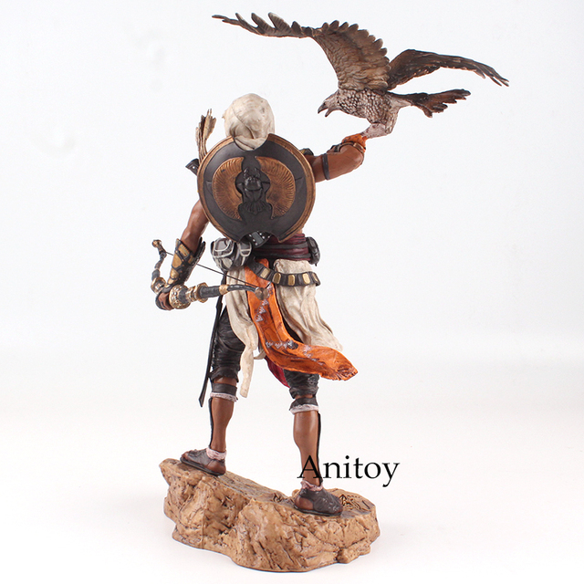 Assassins Creed Assassin's Creed Origines Bayek Protecteur with his eagle PVC Action Figure Model Toy Gift 28cm 3