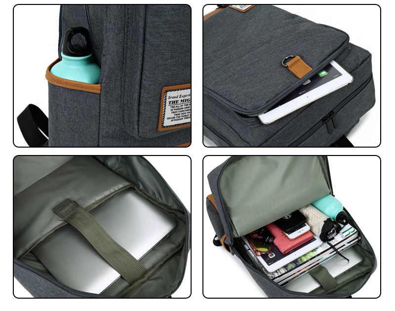 Мужской рюкзак для ноутбука Многофункциональный usb зарядка школьные сумки большой емкости ПВХ лоскутное дорожная много карманов рюкзак для женщин