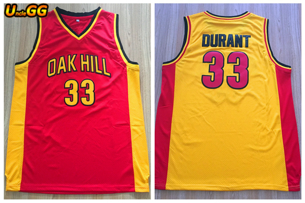 0cfd536ec Uncle GG Kevin Durant Jersey  33 Oak Hill High School Embroidered Stitched  Mens Throwback Basketball Jerseys Foe Men Wholesale