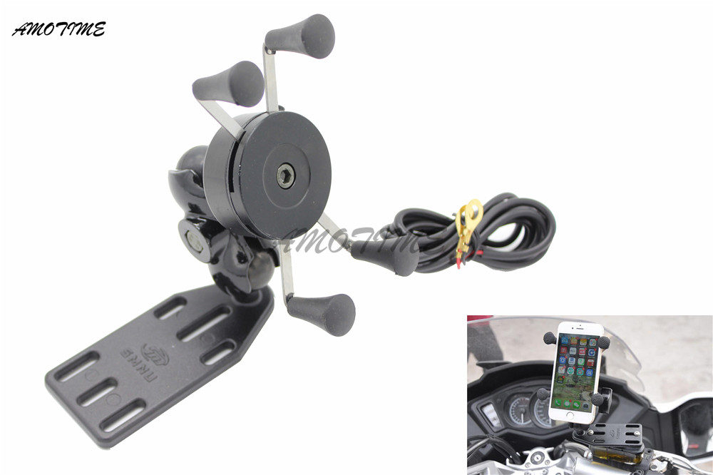 Para ONDA 650 AN400 Burgman Suzuki 125 400 650 CÉU Quadro de Navegação GPS Suporte de Navegação Do Telefone Móvel Acessórios Da Motocicleta
