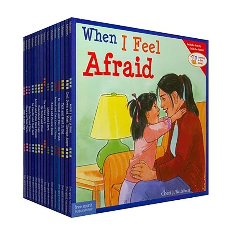 15 книг/комплект обучения для того, чтобы получить вместе книга на английском языке с картинками Детские сборники сказок Стикеры книга IQ EQ обучение