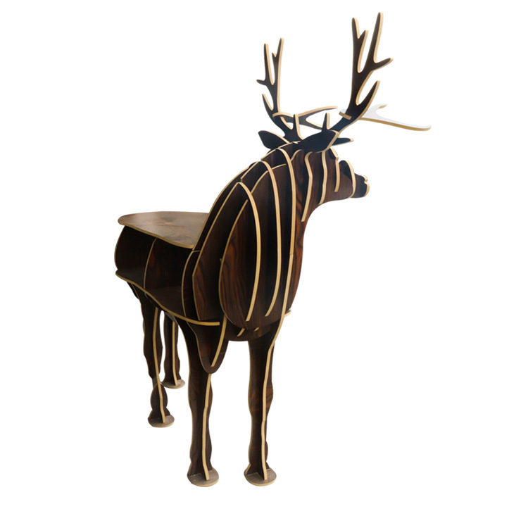 European Nordic style turned deer European style home decoration Hotel restaurant bar shelves free shipping