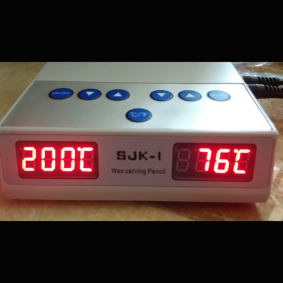 2 output display temperature Electric Thin Waxer Carving font b knife b font Machine Double Pen