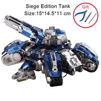 3D Metal Puzzle Siege Edition Tank For Adult Kids Manual Jigsaw Model Educational Toys Desktop Display Collection Christmas Gift