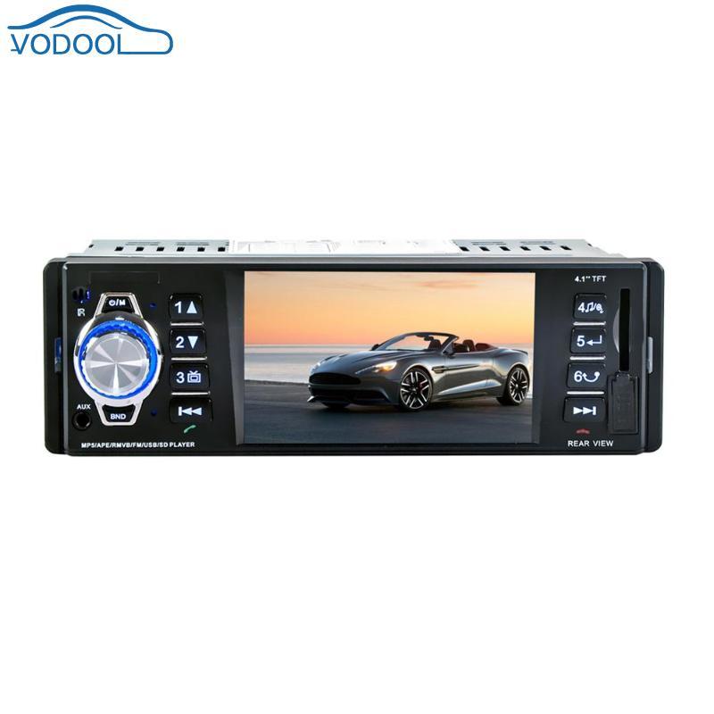 VODOOL 12V 4.1in LCD Screen Bluetooth Car MP5 Media Player Auto FM Radio USB/AUX Remote control With Rear View Camera