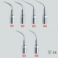 Free shipping 6 X EMS Woodpecker Type Dental Ultrasonic Scaler Tip Scaling G1 G2 G3 G4 G5 G6