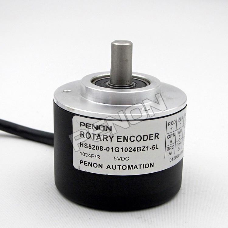 HS5208-01G1024BZ1-5L PENON Rotary Incremental Encoder Outer diameter 52 Trunnion 8 bodenschatz bz 8 089 jm 01
