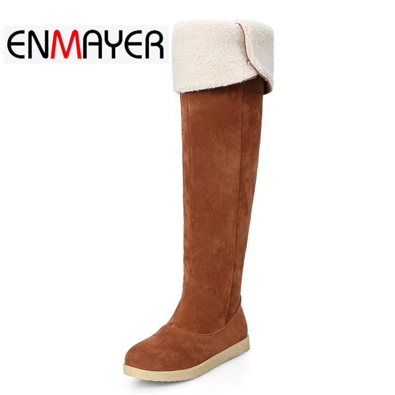 цены ENMAYER Spring And Summer Buckle 2018 Buckle Strap Fashion Square Toe Boots Woman Casual Shoes Woman Black Shoes Spring WHY74