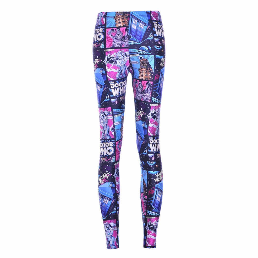 NEW Arrival 3587 Sexy Girl Women Doctor Who Tardis Cyberman 3D Prints Workout Elastic Fitness   Leggings   Pants