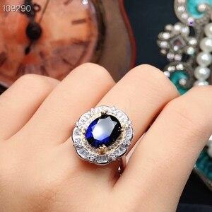 Image 3 - MeiBaPJ parfait saphir pierre gemme ensemble de bijoux 925 en argent Sterling 2 Siut Fine luxe bijoux de mariage pour les femmes