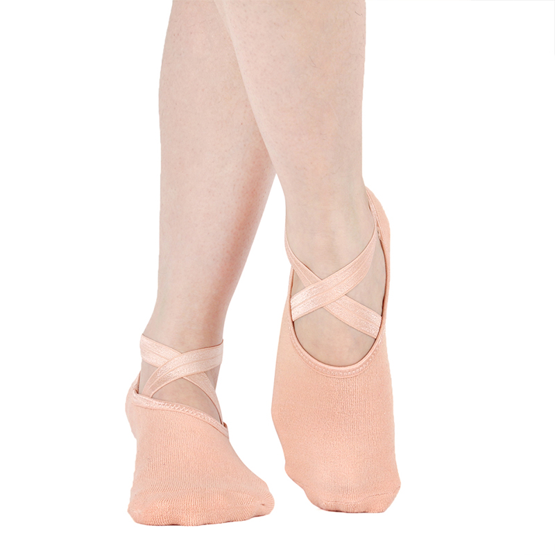 Yoga Socks For Extra Grip Yoga Socks Ballet Cross Straps Backless Pilates Socks Professional Non-Slip Sports Foot Boat Socks